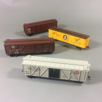 Wooden Boxcars
